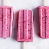 Berry and coconut ice lollies