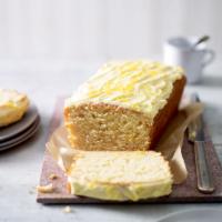 Vegan frosted lemon cake