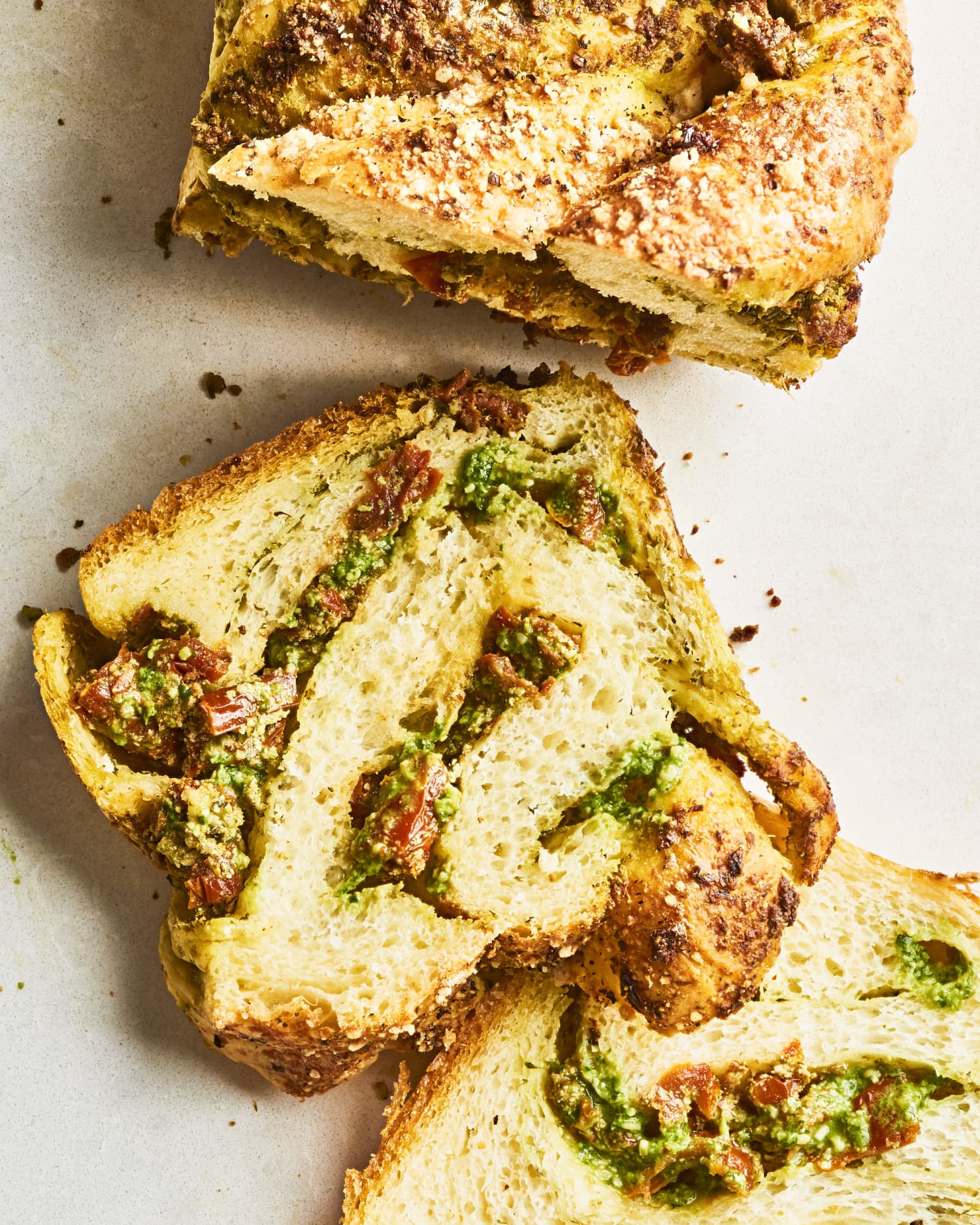 Recipe: Savory Babka with Pesto, Ricotta, and Sun-Dried Tomato