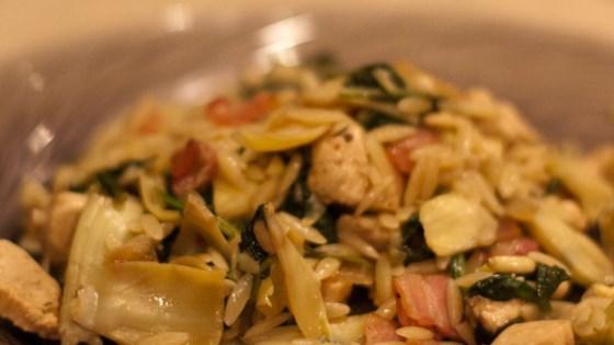 Orzo with Chicken and Artichokes Recipe