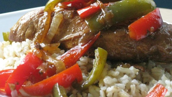 Aunt Jules' Balsalmic Chicken with Peppers Recipe