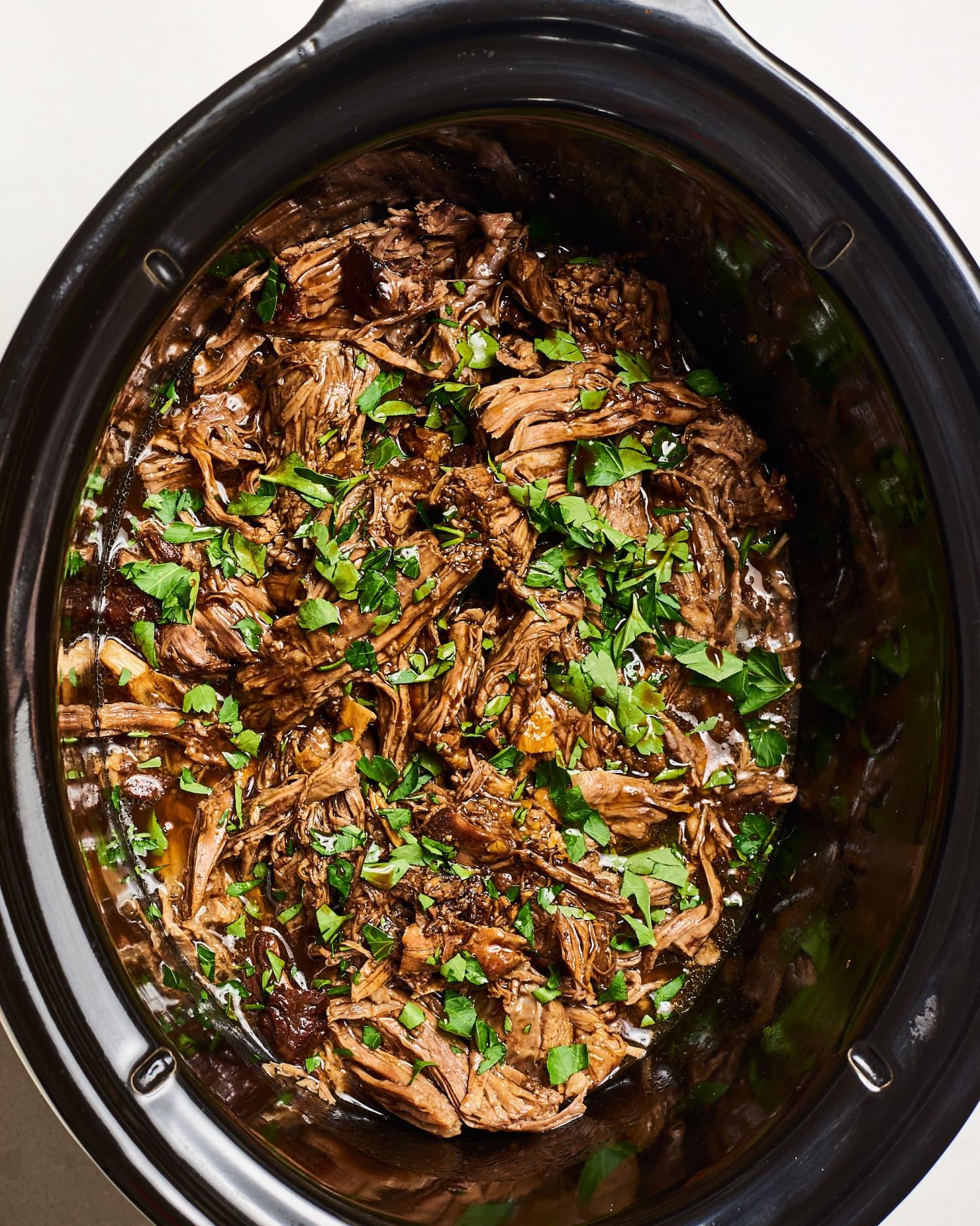 Recipe: Slow Cooker Shredded Balsamic Beef