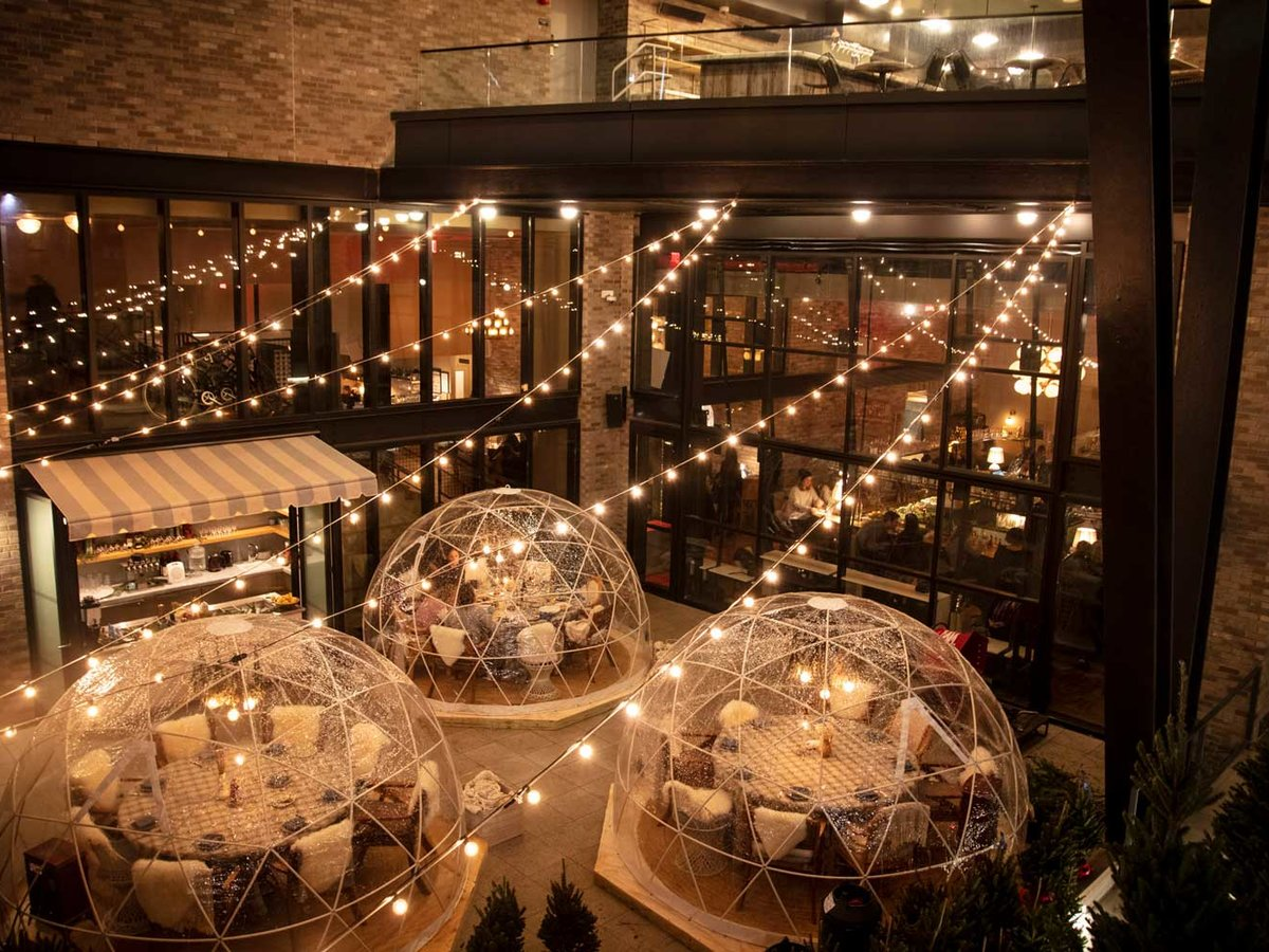 Sip Cocktails in an Igloo Surrounded by Christmas Trees at This Brooklyn Hotel