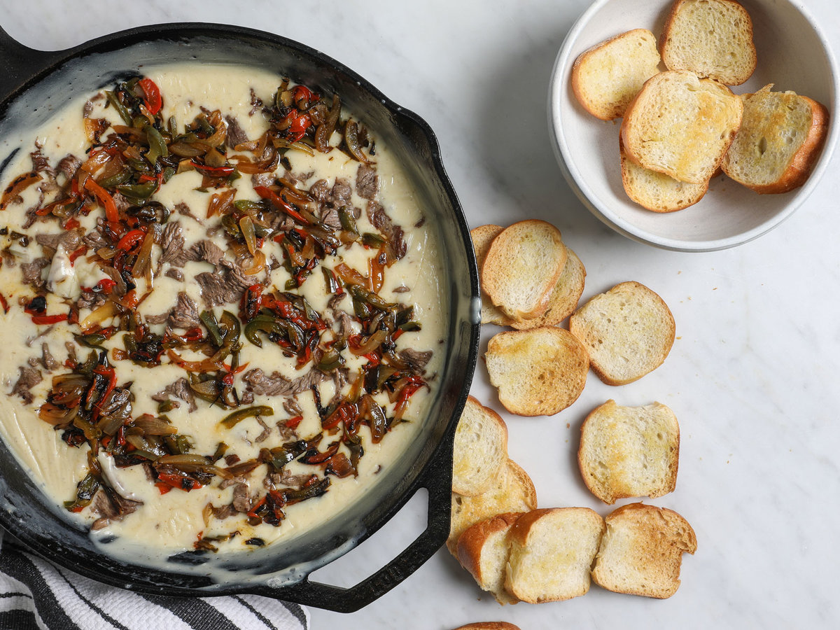 What to Make for Super Bowl Sunday: New England Lobster Dip and Philly Cheesesteak Queso