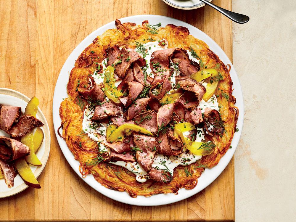 Potato Rösti with Pastrami