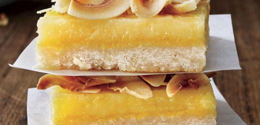 Lemon-Coconut Chess Bars
