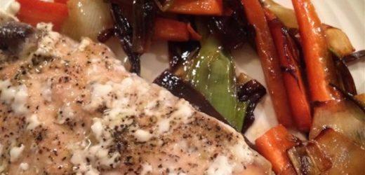 Salmon with Caramelized Leeks Recipe