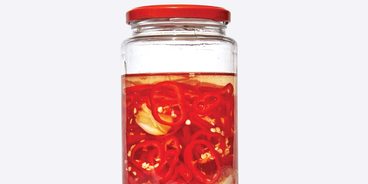 Pickled Hot Chiles