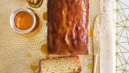 Spiced honey drizzle cake
