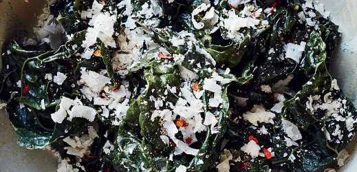Cacio e Pepe-Style Braised Kale