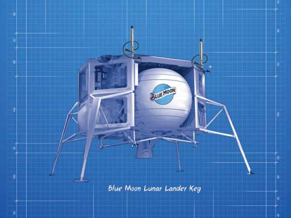 Blue Moon to Release 'Lunar Lander Keg' in Honor of Apollo 11 and Jeff Bezos