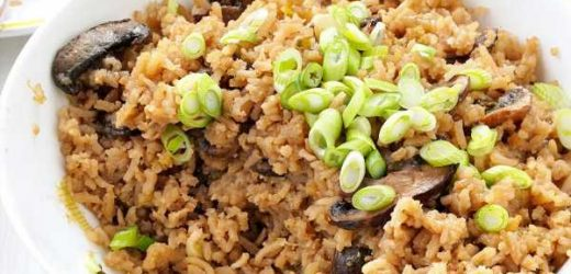 Pressure-Cooker Mushroom Rice Pilaf