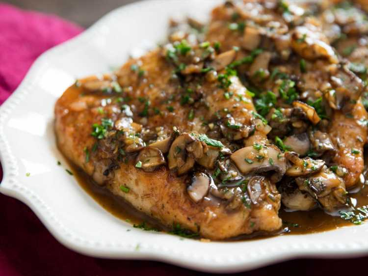 Chicken Marsala With Mushrooms and Shallots Recipe