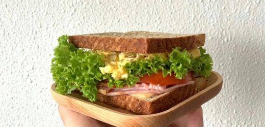 Simple Egg Mayo Turkey Ham Sandwichʕ·͡ᴥ·ʔ