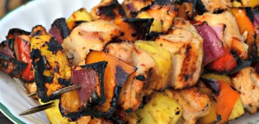 Caribbean-Inspired Grilled Chicken Kabobs Recipe