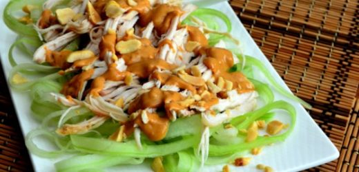 Cucumber Chicken Salad with Spicy Peanut Dressing Recipe