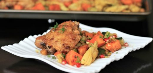 Moroccan Chicken Thigh Sheet Pan Dinner Recipe