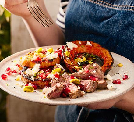 Charred squash & spiced lamb