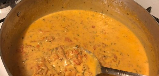 Crawfish Monica / or easy crawfish pasta