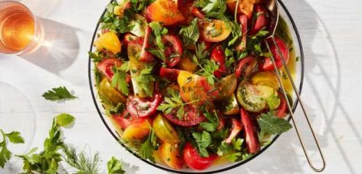 Late Summer Tomatoes with Fresh Herbs