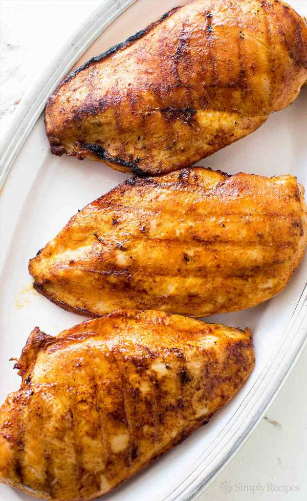 Perfect Skinless Boneless Grilled Chicken - Simply Sated
