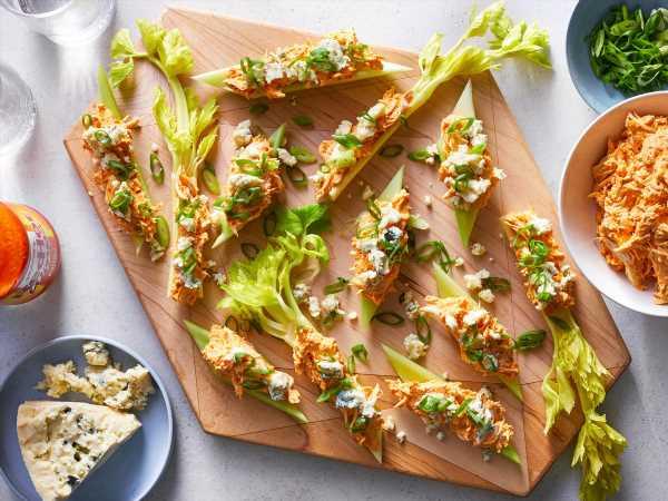 Buffalo Chicken Stuffed Celery