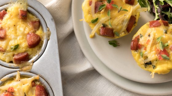 Mini Frittatas with Hillshire Farm® Smoked Sausage and Potato Recipe