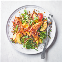 Spiced chicken, mixed grain & nectarine salad