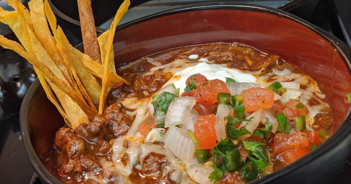 Tex-Mex inspired brisket chili