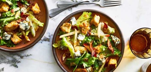 Torn Escarole Salad with Warm Bacon Vinaigrette