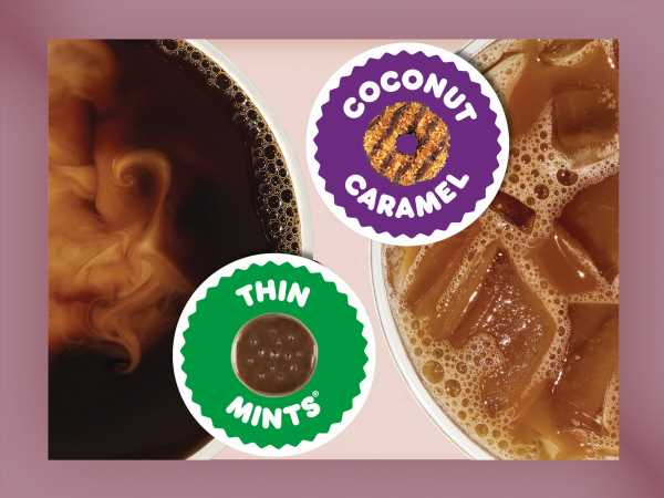 Dunkin's Girl Scout Cookie Flavored Coffees Are Back