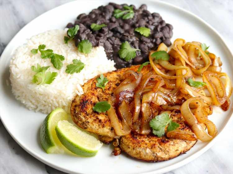 Chicken Cutlets Go Cuban in Quick and Easy Pollo a la Plancha Recipe