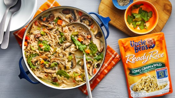 Creamy Chicken & Rice Soup Recipe