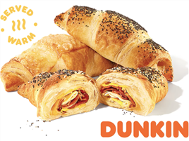 Dunkin' Is Rolling Out New Cheesy Stuffed Croissants In Two Mouthwatering Flavors