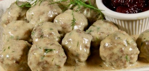 Swedish Meatballs with Creamy Dill Sauce Recipe