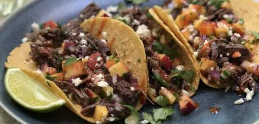 Instant Pot Short Rib Tacos With Peach Salsa