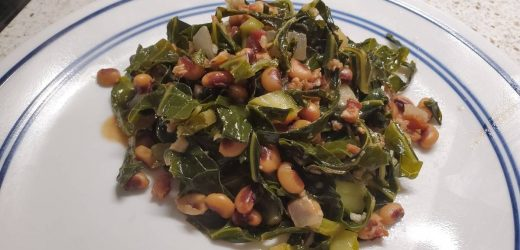 My Southern Black Eyed Peas with Collard Greens