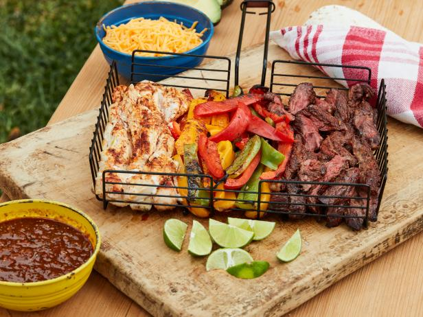 Fajitas in a Grill Basket