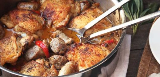 Chicken Scarpariello (Braised Chicken With Sausage and Peppers) Recipe