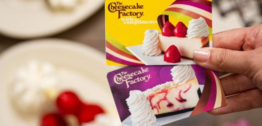 The Cheesecake Factory Is Offering $15 Bonus Cards for Every $50 Spent On Gift Cards