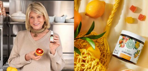 Martha Stewart Has Her Own Line Of CBD Products That Taste Like Meyer Lemon And Blood Orange