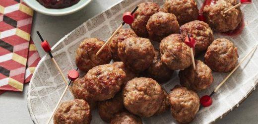 Air Fryer Mini Swedish Meatballs