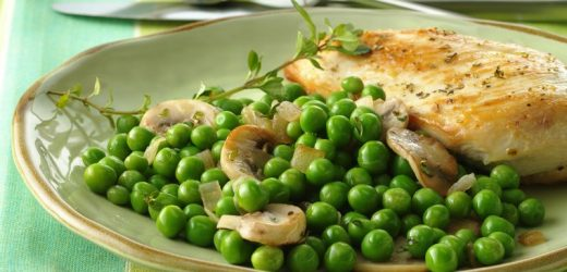 Peas with Mushrooms and Thyme