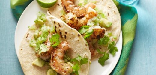 Chipotle Shrimp Taco with Avocado Salsa Verde