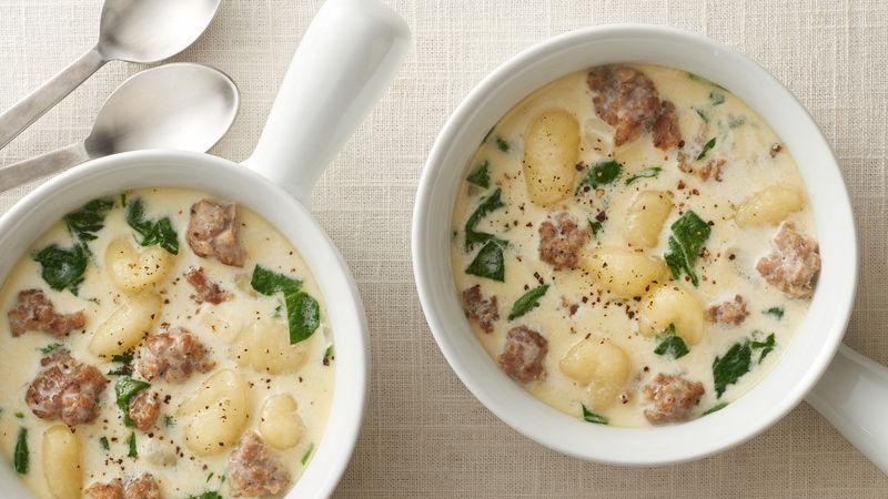 Sausage and Gnocchi Soup