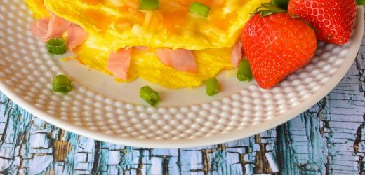 Ultimate Low-Carb Ham and Cheese Omelet for Two
