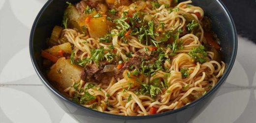 Lagman (Uzbek Noodle Soup)