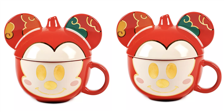 Disney Is Selling A Gorgeous Red And Gold Mickey Mug With A Removable Lid For Lunar New Year