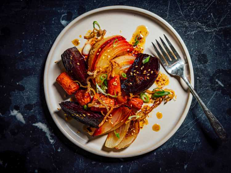 Roasted Root Vegetables With Sweet Lime Dressing Recipe