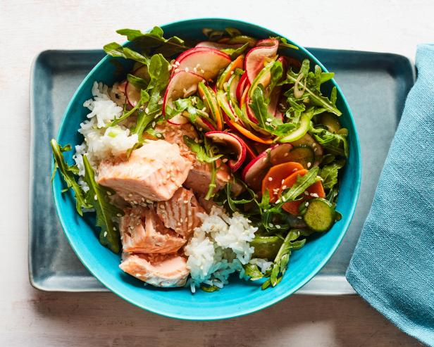 20-Minute Instant Pot Salmon and Rice Bowl